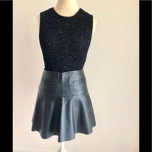 Club Monaco Leather Skirt 0